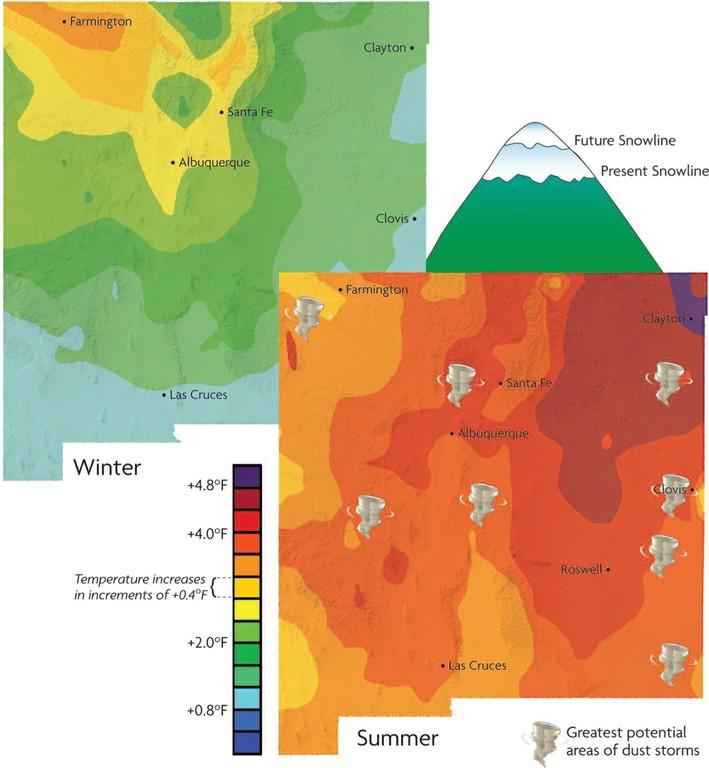 Climate Change Map-No Caption